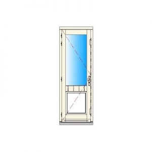 Binnendraaiend deurkozijn