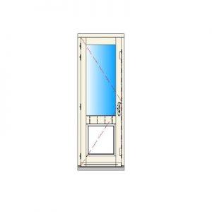 Binnendraaiend deurkozijn enkel