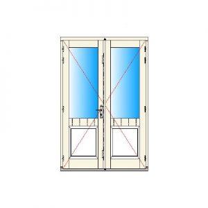 Binnendraaiend deurkozijn dubbel